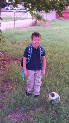 Boo 1st day of school - Aug 2016