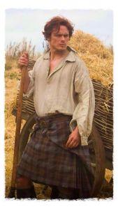 Jamie Fraser in Kilt