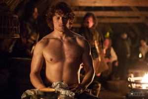 Jamie Fraser shirtless