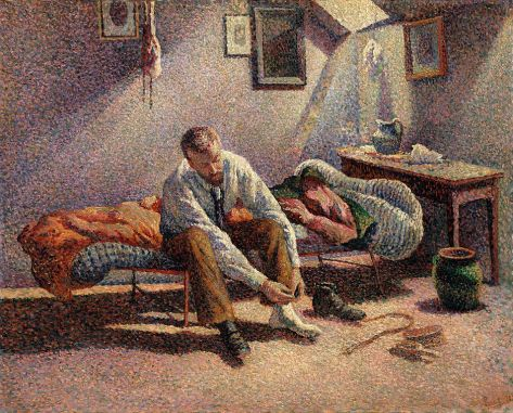 Maximilien Luce - Morning Interior, 1890
