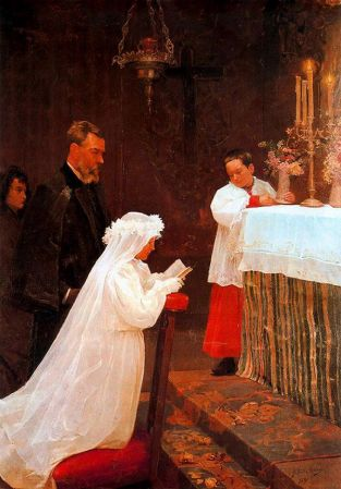 First Communion, 1895
