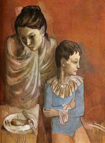 Les Baladins (Mother and Child, Acrobats) 1904-05