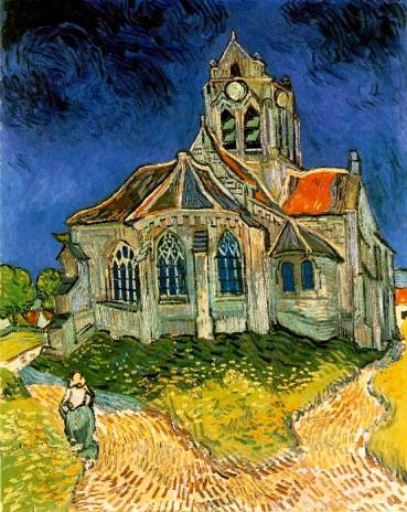 Van Gogh - The Church at Auvers, 1890