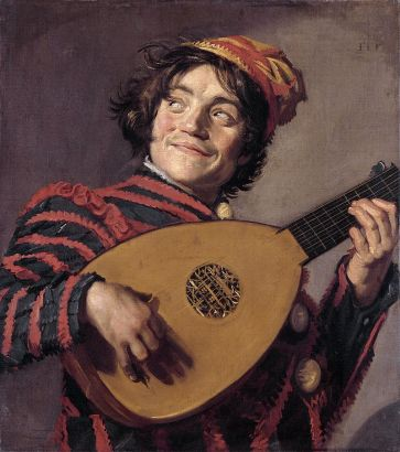 Frans Hals - Jester with a Lute, 1620-25
