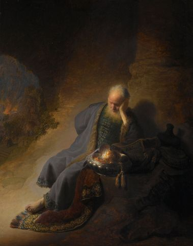 Rembrandt - Jeremiah Lamenting the Destruction of Jerusalem, 1630