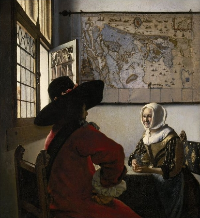 Vermeer - Officer and Laughing Girl, 1655-60