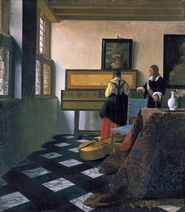 Vermeer - The Music Lesson,1662-65