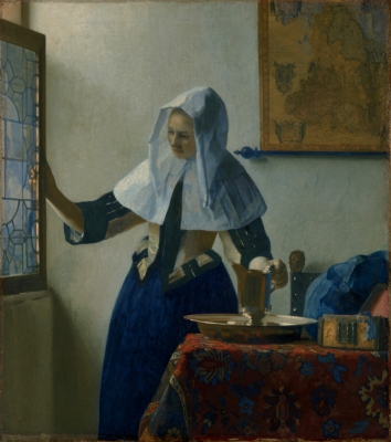 Vermeer - Young Woman with a Water Pitcher, c. 1664-65