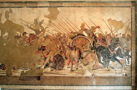 Alexander and Darius at Battle of Issus, Pompeii - 100 BCE