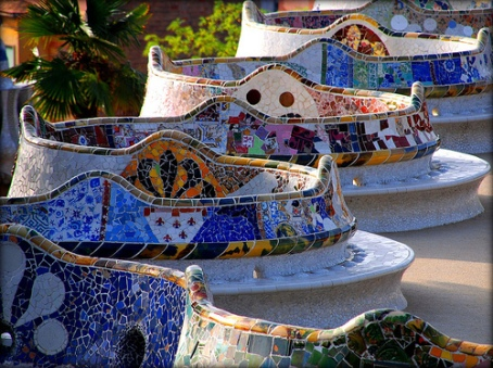 Antonio Gaudi - Guell Park benches,