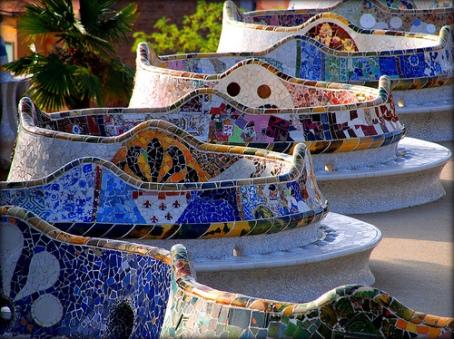 Antonio Gaudi - Guell Park benches,