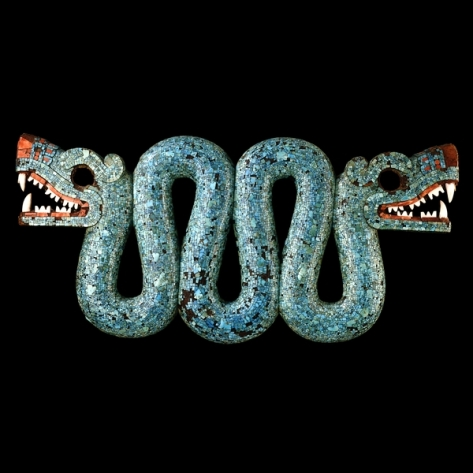 Aztec Double headed mosaic Serpent chestpiece - 15-16th centuries AD