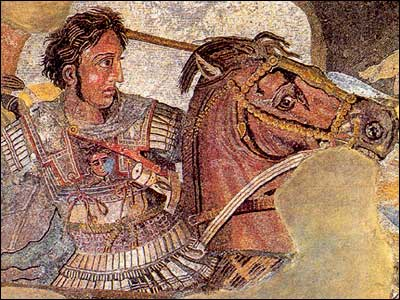Battle of Alexander mosaic from Pompeii
