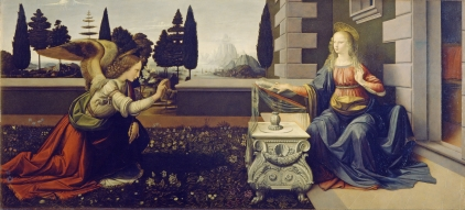 Leonardo - The Annunciation, 1472-75