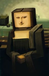 Minecraft Mona Lisa