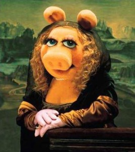 Miss Piggy as Mona Lisa