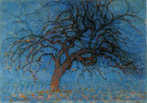 Mondrian - Avond- Red Tree, 1908