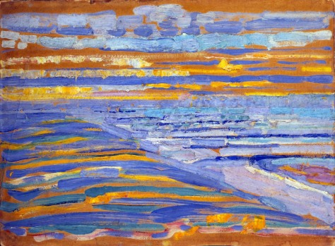 Mondrian - View from the Dunes and Piers, Domburg 1908