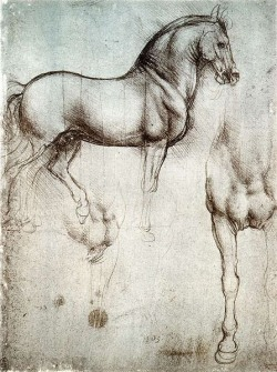 Sketches for Cavallo dello Sforza