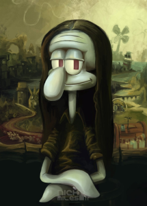 Squidward Mona Lisa