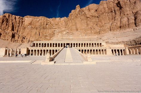 The Mortuary Temple of King Hatshepsut, aka the Djeser-Djeseru, the Holy of Holies