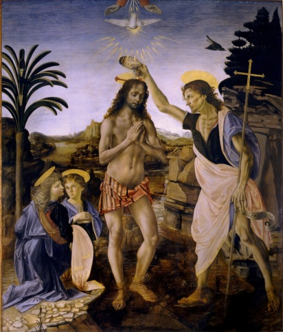 Verrocchio - The Baptism of Christ, 1472-75
