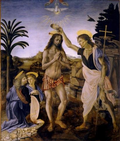 Verrocchio - The Baptism of Christ, 1472-75