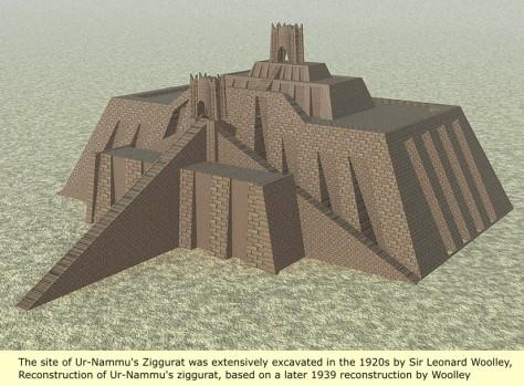 Artist Rendering of what it might have looked like - Ur-Nammu Ziggurat in Sumeria