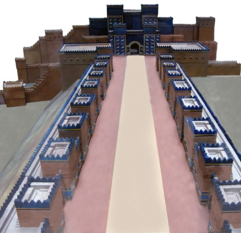 Model of the main procession street towards Ishtar Gate