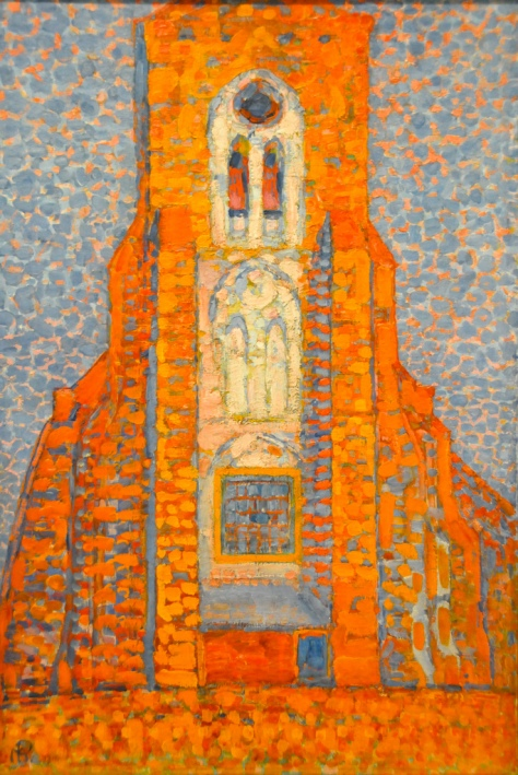 Piet Mondrian - Sun, Church in Zeeland, Zoutelande Church Facade, 1910 at Tate Modern Art Gallery London England