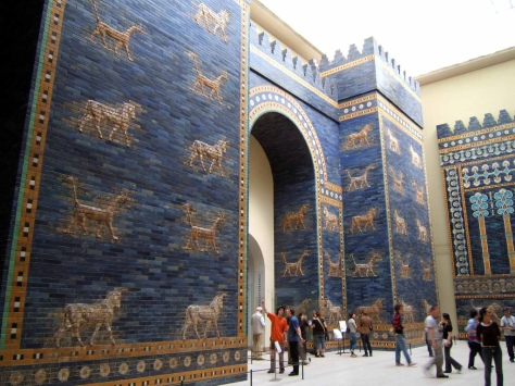 Reconstruction of the Ishtar Gate, c 575 BCE, Neo-Babylonian