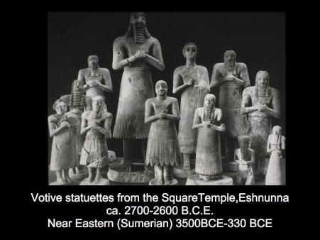 Votive Statuettes from the Square Temple, Eshunna c. 2700-2600 BCE
