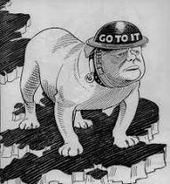Churchill as a Bulldog