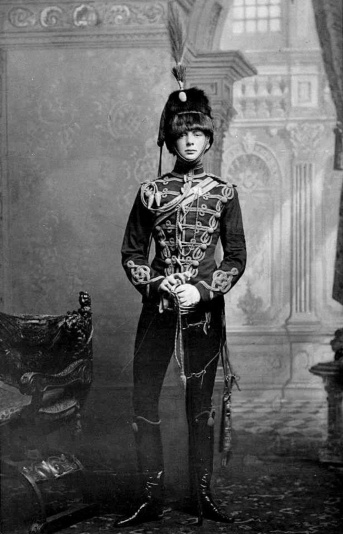 Churchill in 4th Hussars gear, 1895