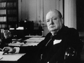 Churchill with cigar