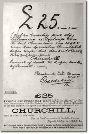 Churchills Wanted Poster in South Africa