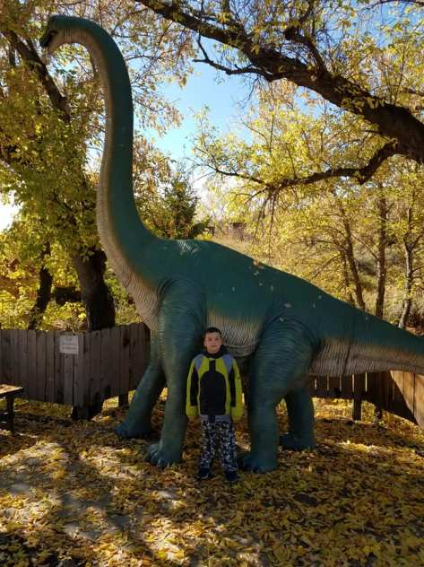Liam and the Brachiosaurus - Oct 2018